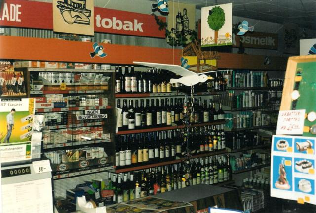 Den store butik med områderne: Vin &Tobak og Personlig Pleje